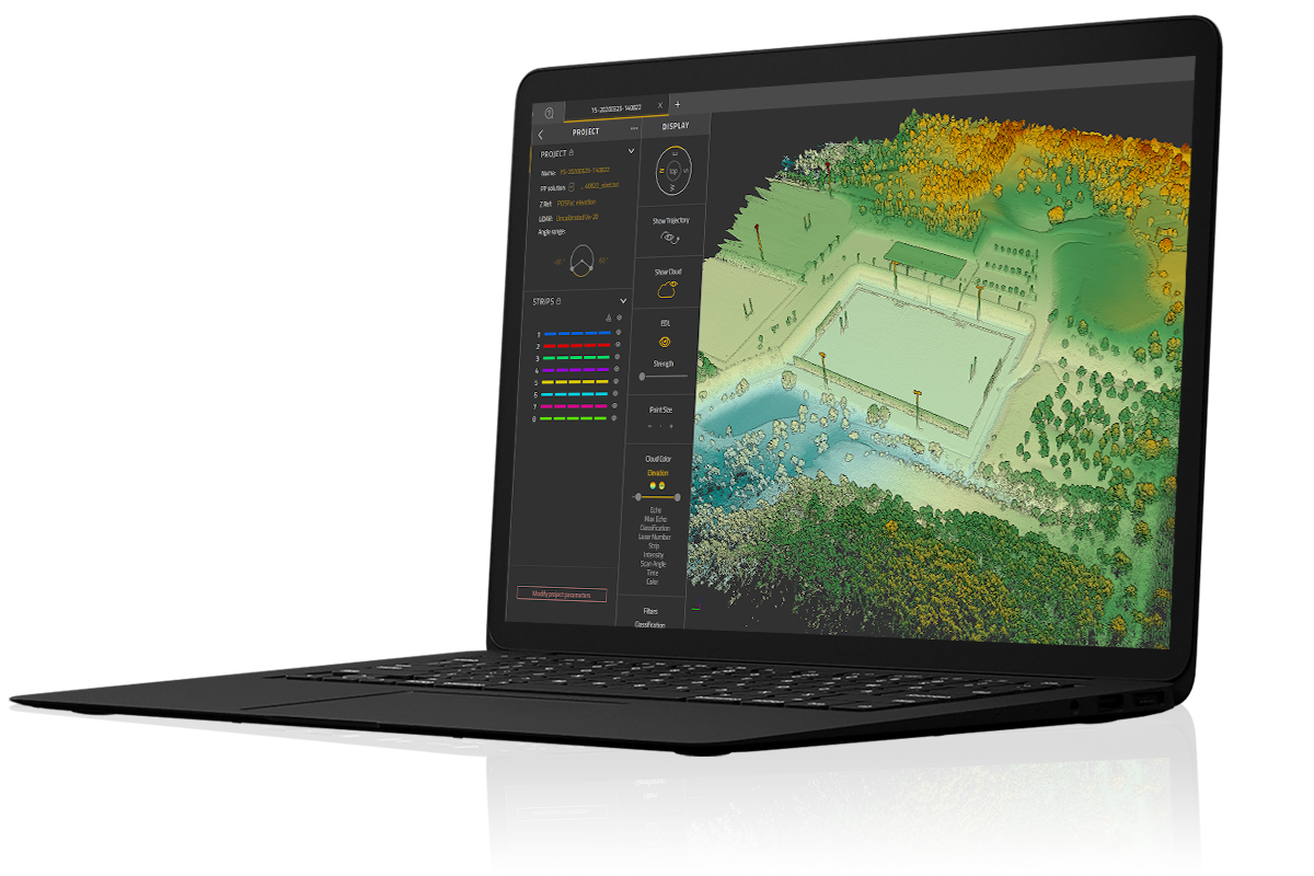 YellowScan-CloudStation-LiDAR-software