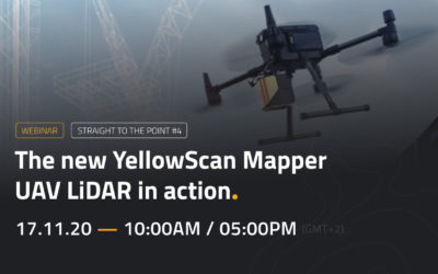 WEBINAR | Le nouveau YellowScan Mapper UAV LiDAR en action