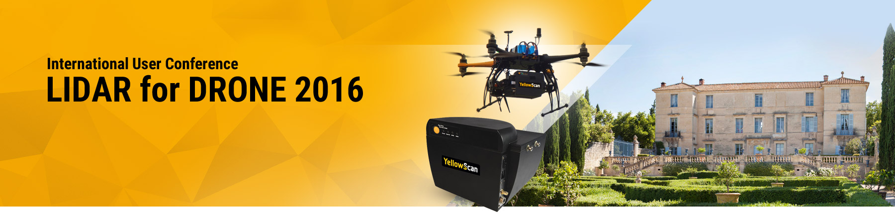 LIDAR for Drone - International YellowScan User Conference 2016